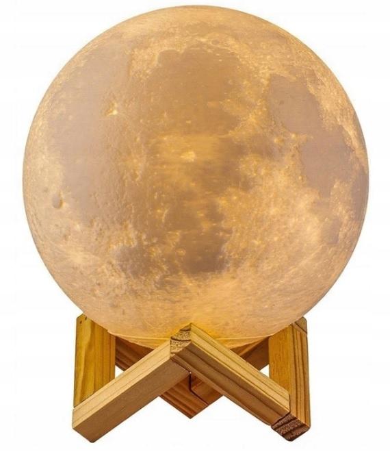 LAMPKA NOCNA ŚWIECĄCY KSIĘŻYC MOON LIGHT 3D 8CM