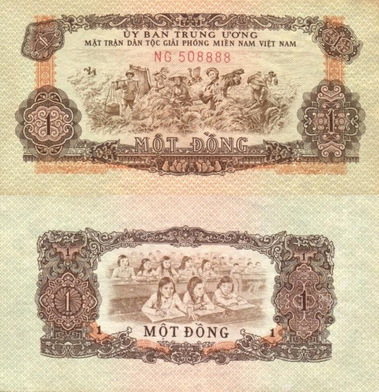 # ЮЖНЫЙ ВЬЕТНАМ - 1 ДОНГ - 1963 - P-R4 - AU