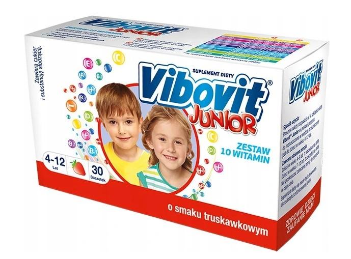 Vibovit Junior Truskawkowy 10 Witamin 30 saszetek