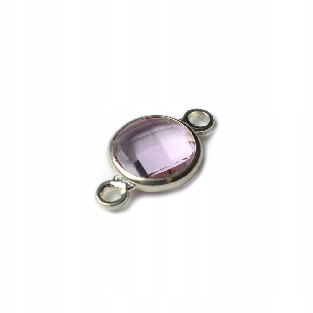 LAC340 Łącznik do biżuterii z kamieniem 8mm