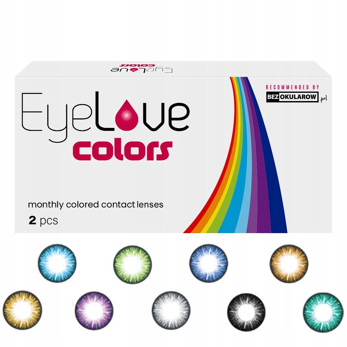 Soczewki kolorowe EyeLove Colors - zerówki 0,00