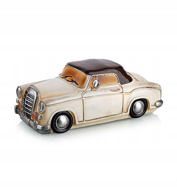 NOSTALGI Retro vintage dekoratívny Mercedes biely