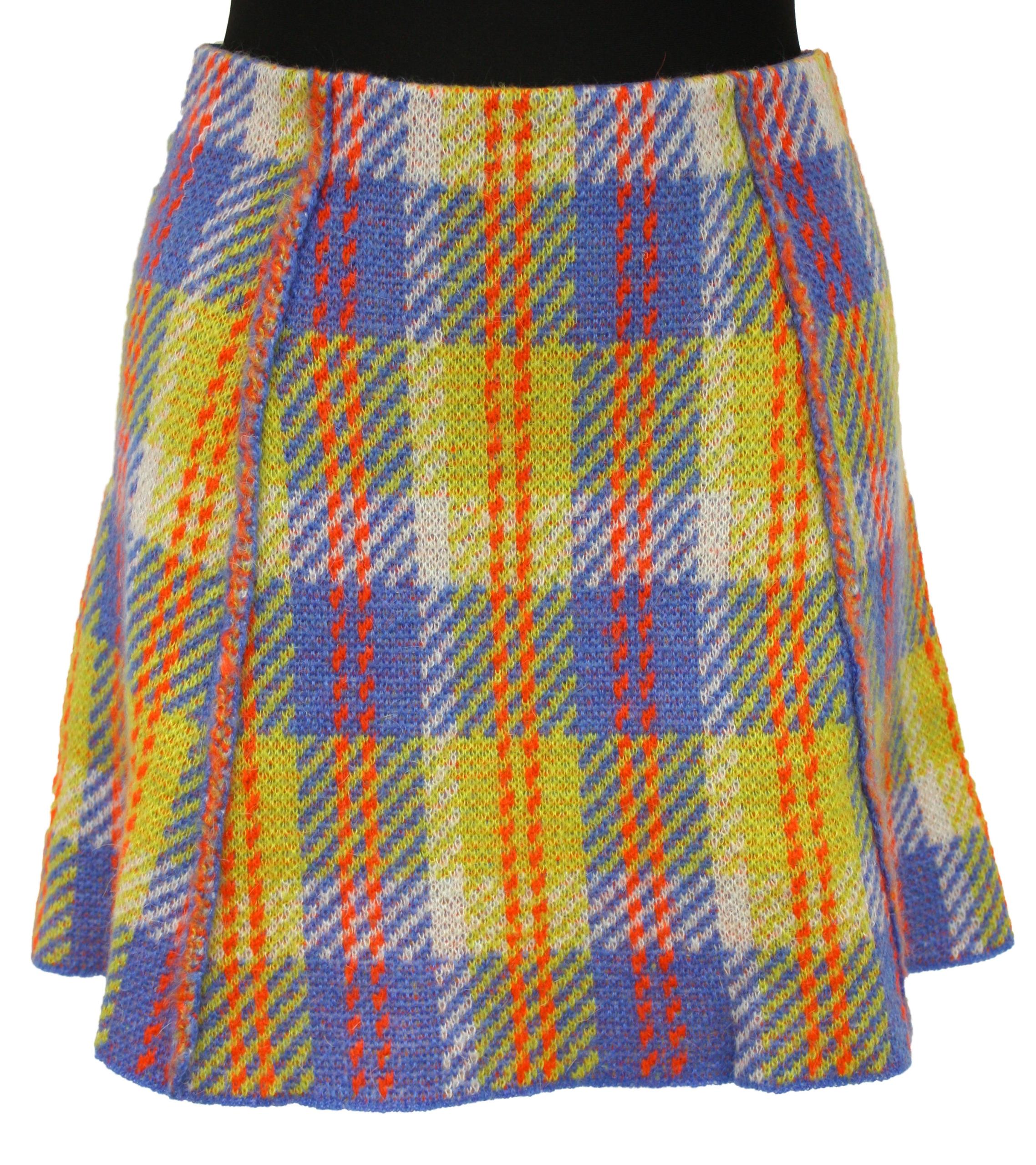Mini sukňa BENETTON retro vintage mohér S