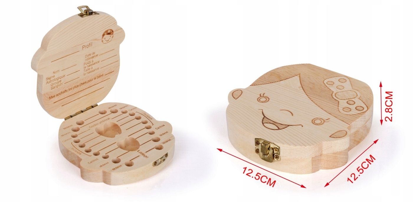 Купить Деревянный ящик для молочных зубов для девочки на Otpravka - цены и фото - доставка из Польши и стран Европы в Украину.
