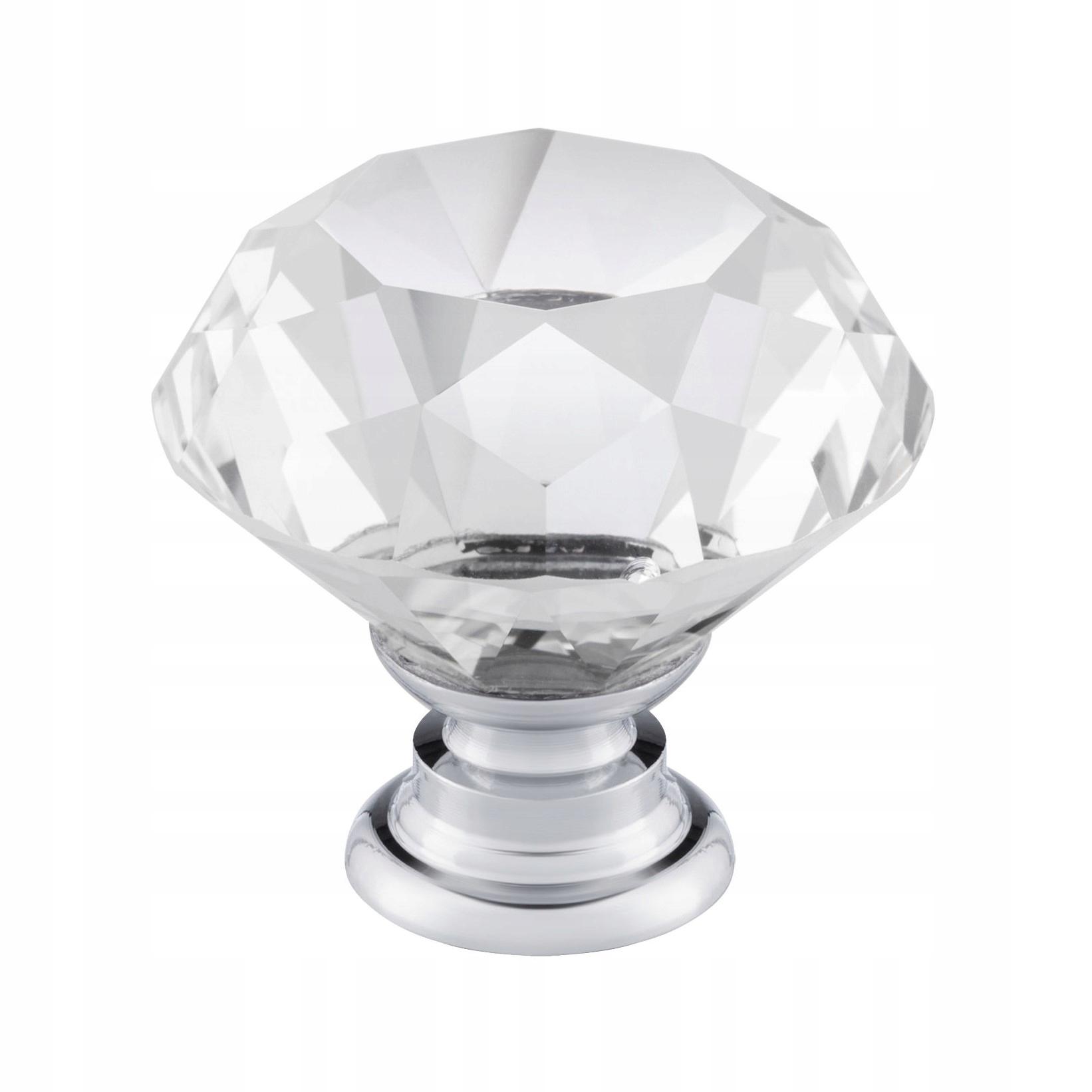 МЕБЕЛЬНАЯ РУЧКА - ХРУСТАЛЬНАЯ ручка алмаз 30мм