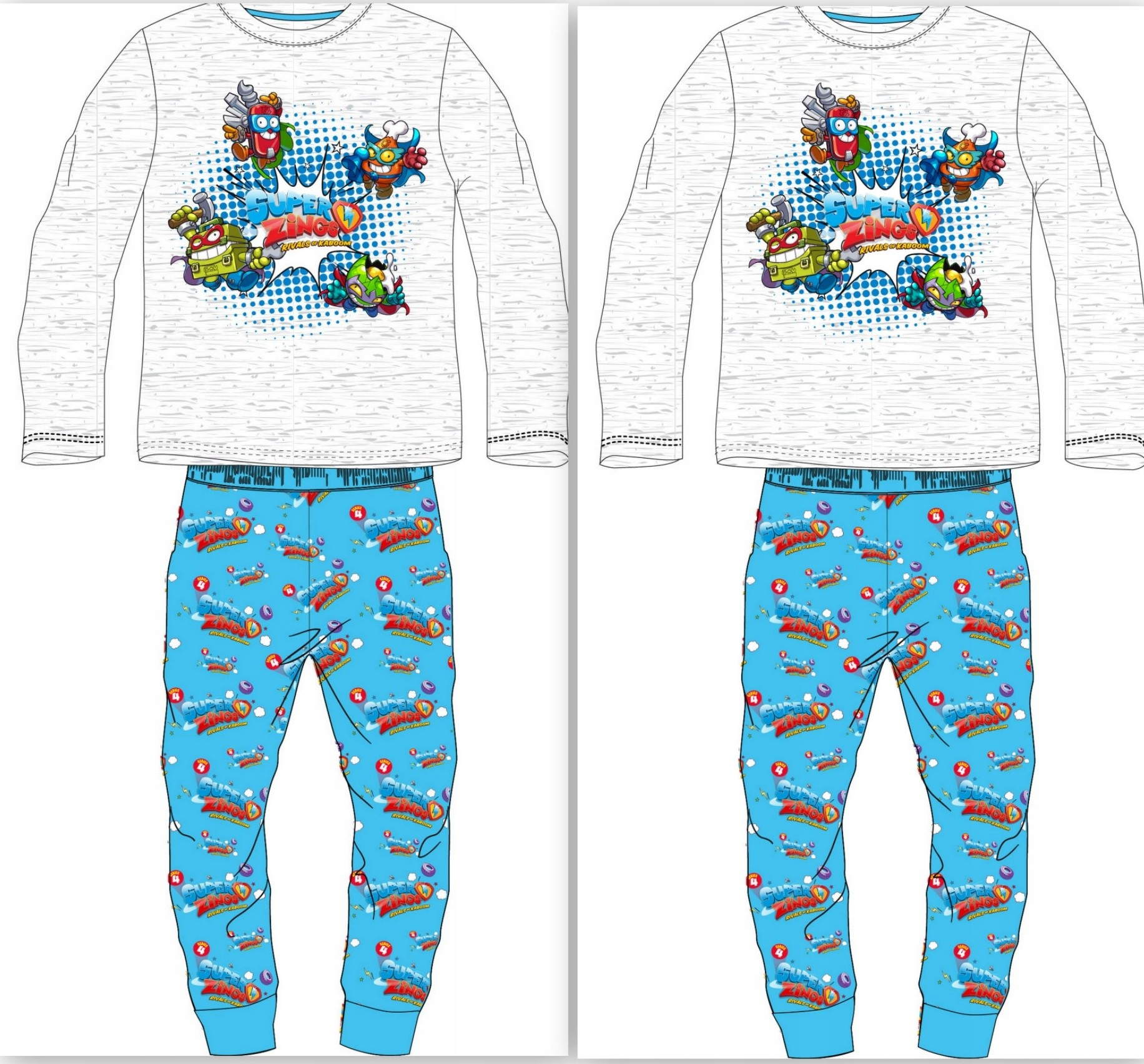 Pyžamo SUPER ZINKS r122 100% BAVLNA