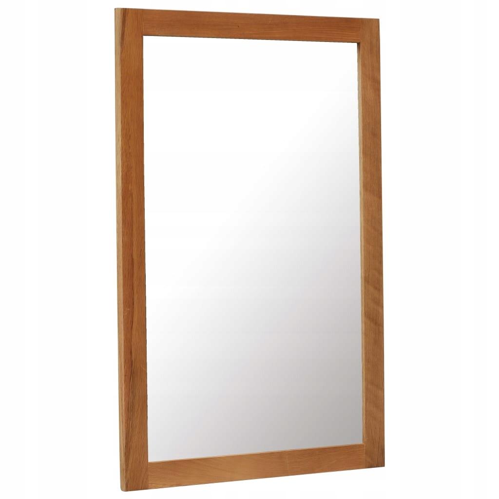 Zrkadlo, 60x90 cm, masívne dubové drevo