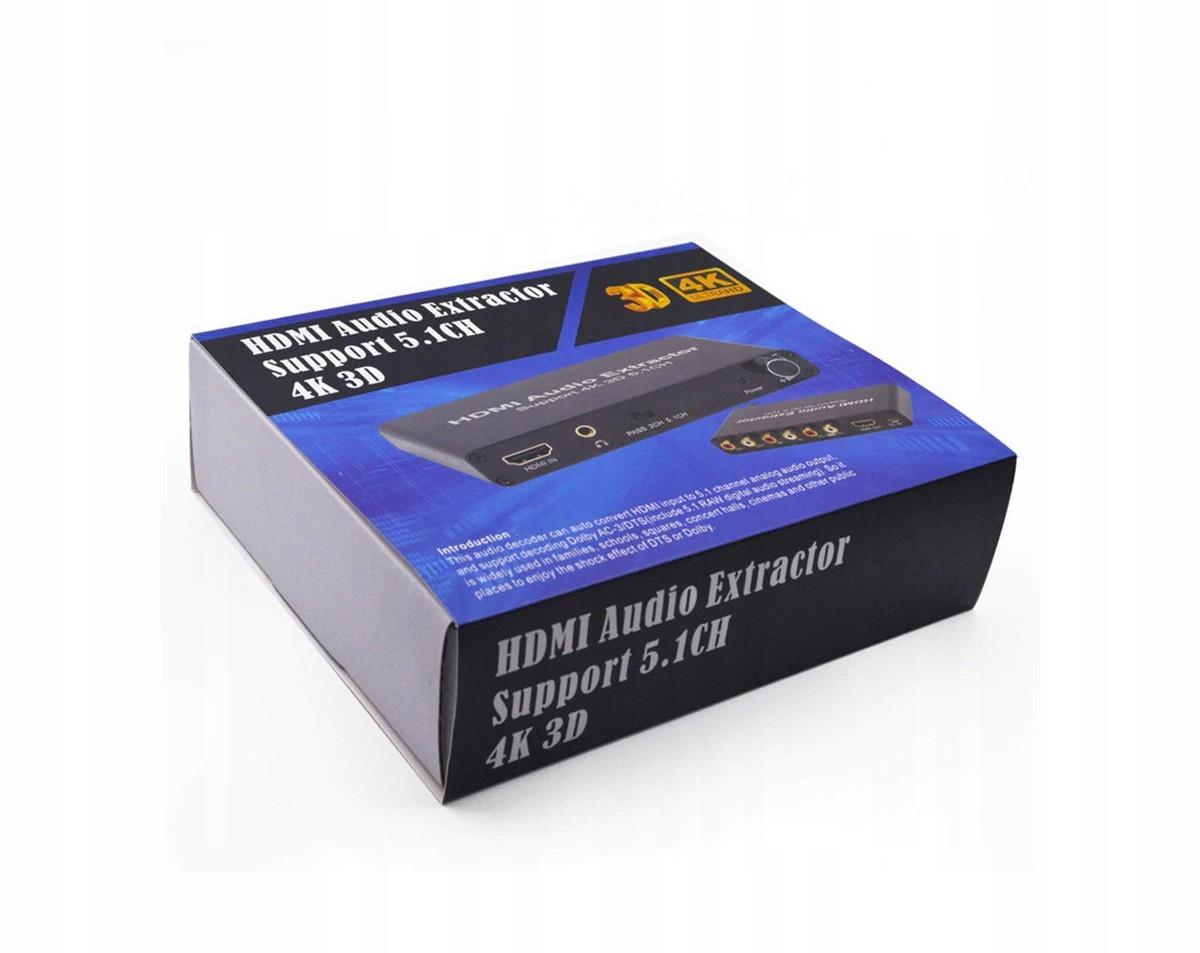 Купить Экстрактор звука 5.1 от HDMI до объемного звука + наушники на Otpravka - цены и фото - доставка из Польши и стран Европы в Украину.