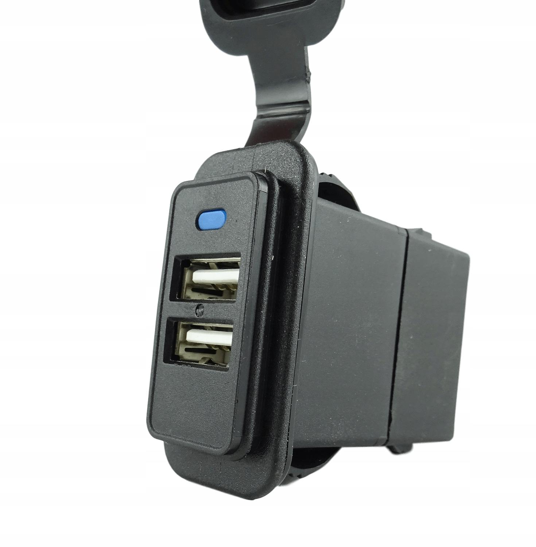 Двойной разъем USB для рамок 37x21 мм