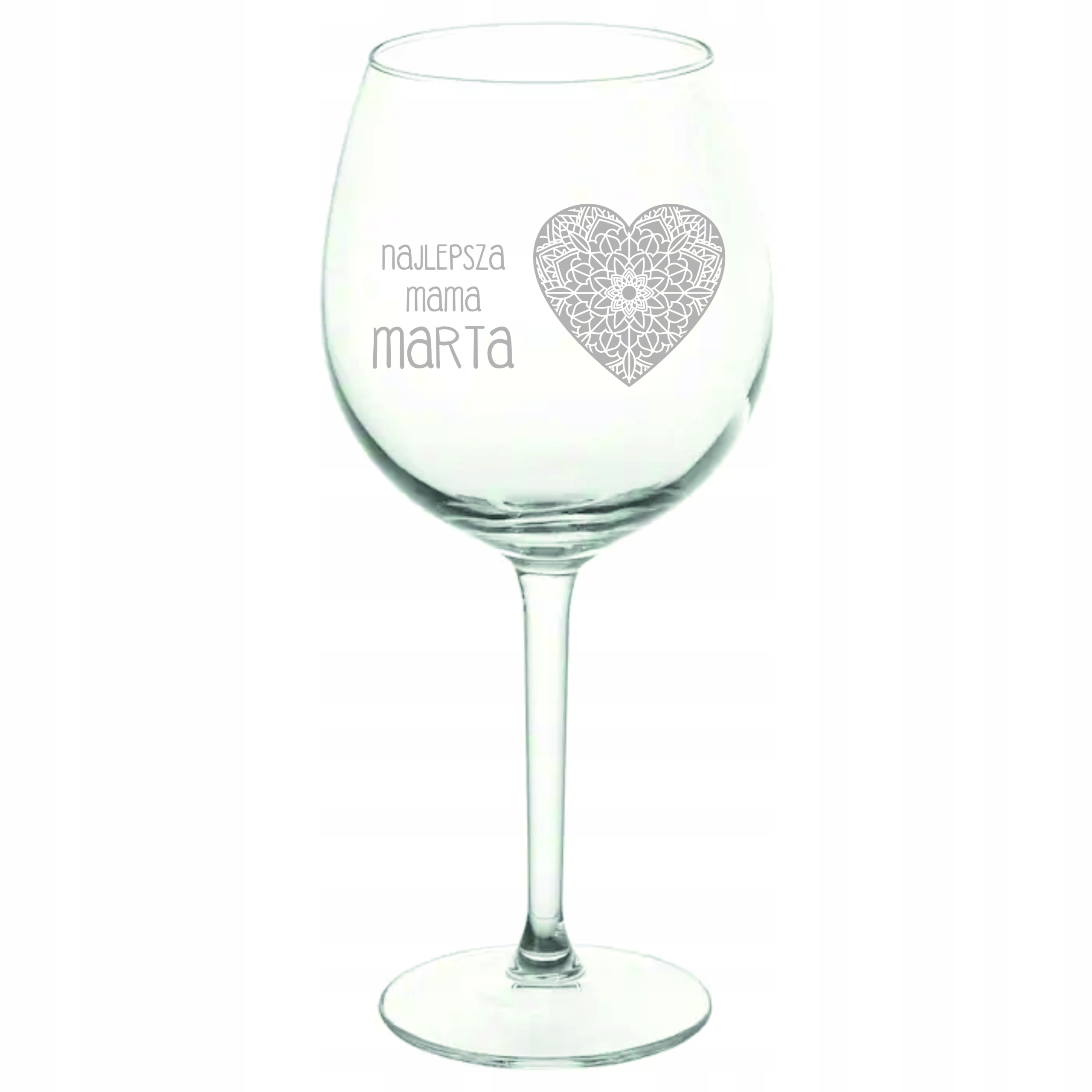 Item Glass engraving 590ml,wedding,Bridal shower,for mom