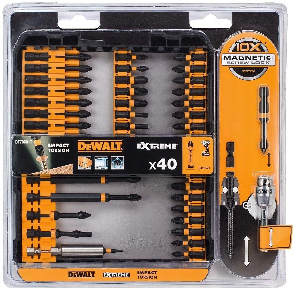 DeWalt Zestaw bitów PH PZ TX Torx 40szt DT70601T Kod producenta DT70601T