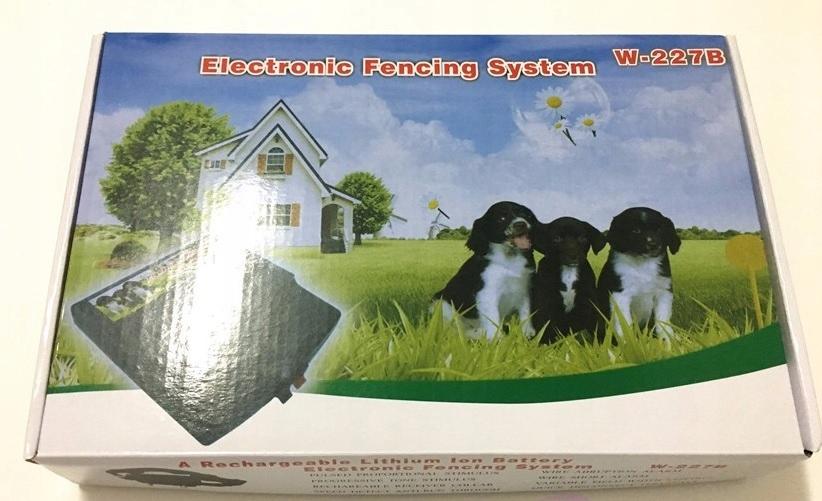 Elektryczny pastuch System dla Psów Ogrodzenie227B Kolor czarny