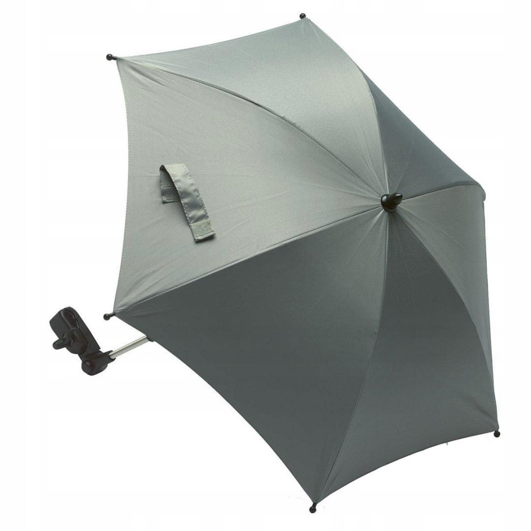 Dáždnik do kočíka UV50 svetlošedý