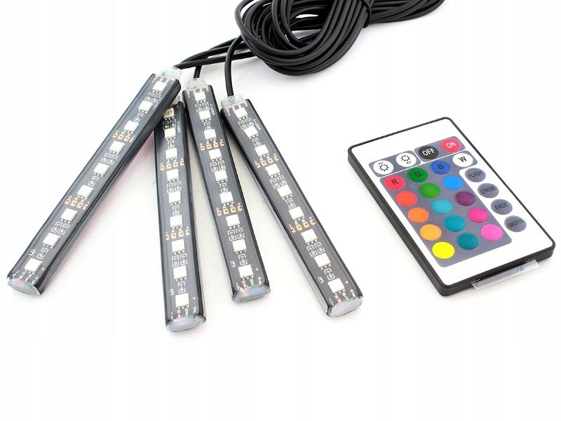 цветные лампы led к интерьер автомобиля ambient