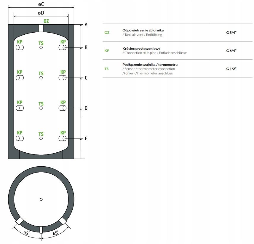 Bufor OEM Black 1000 0w akumulacyjny izolowany Kod produktu OEM BLACK v2 1000 G