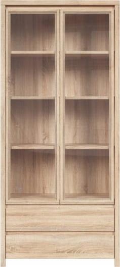 Высокий шкаф-витрина для столовой Каспиан