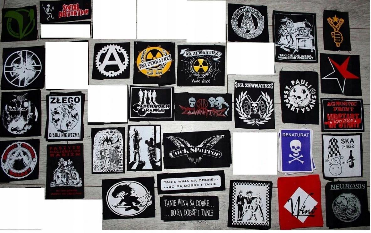 Punk popruhy Anarchia GBH Czachach Rôzne vzory