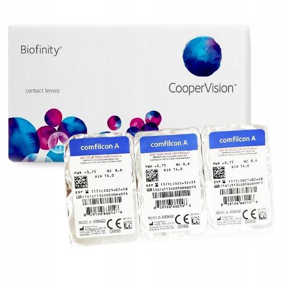 Soczewki Biofinity 6 szt. - miesięczne