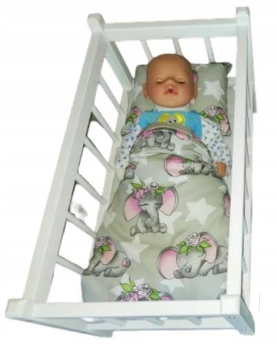 Drevená postieľka pre bábiky pre deti do jedného roka + POSTELIE