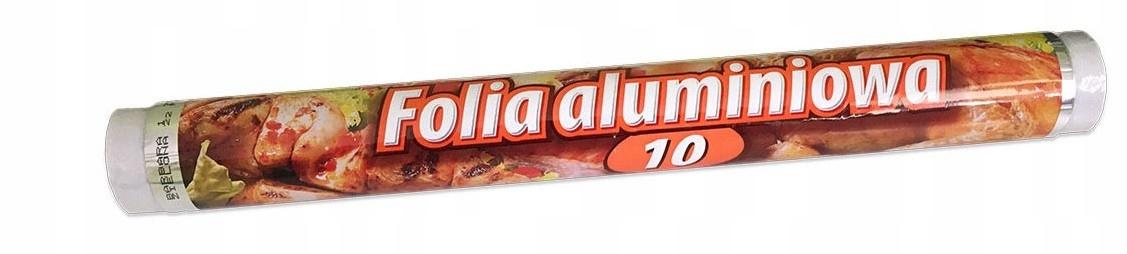 Фольга алюминиевая пищевая 10м красоты