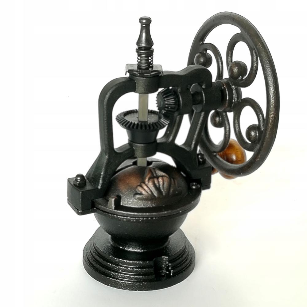 Veľký ručný mlynček na kávu - mechanizmus v retro štýle