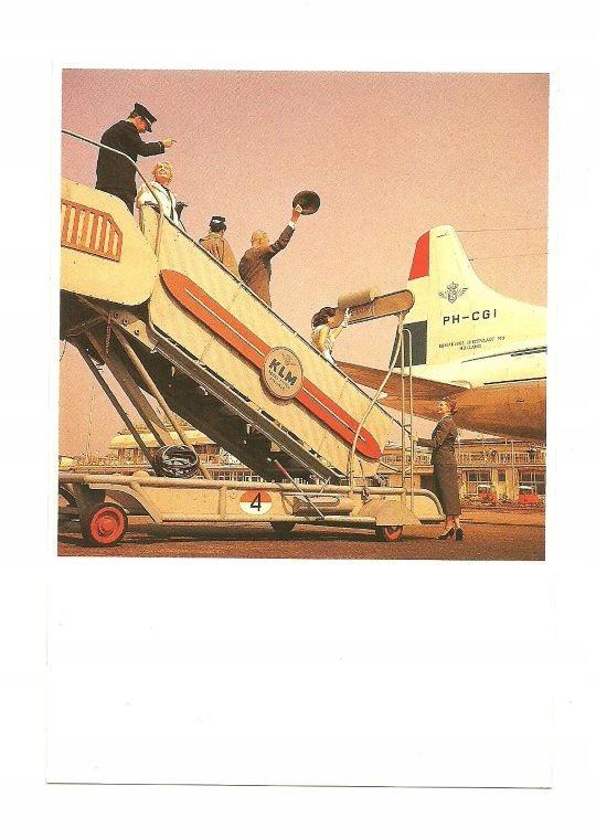 Почтовое отделение - Пилот, пассажирский трап и бортпроводник, 50е