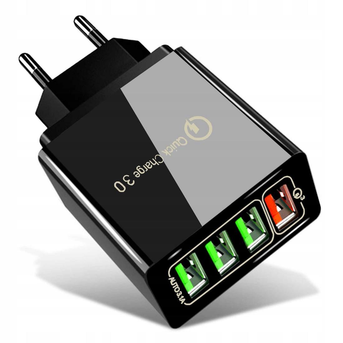 Ładowarka Sieciowa 3xUSB + USB QC3.0
