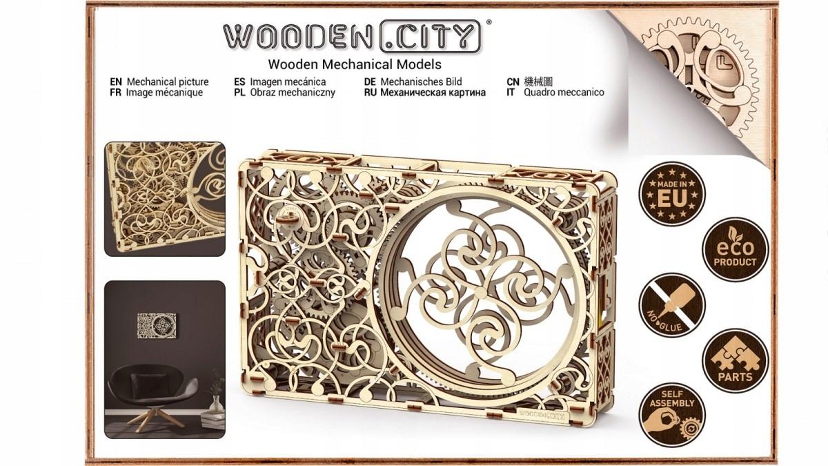 WOODEN CITY 3D Puzzle Mechanický obrázok