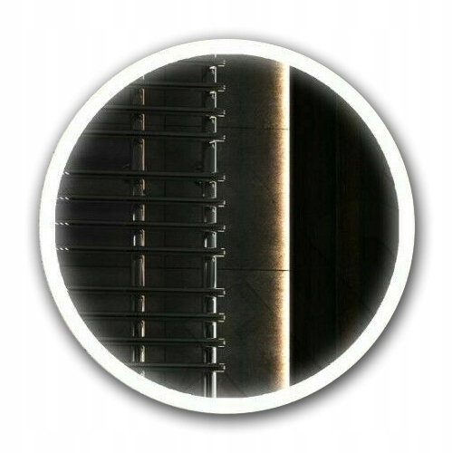 Okrúhle LED osvetlené 80 cm kúpeľňové zrkadlo