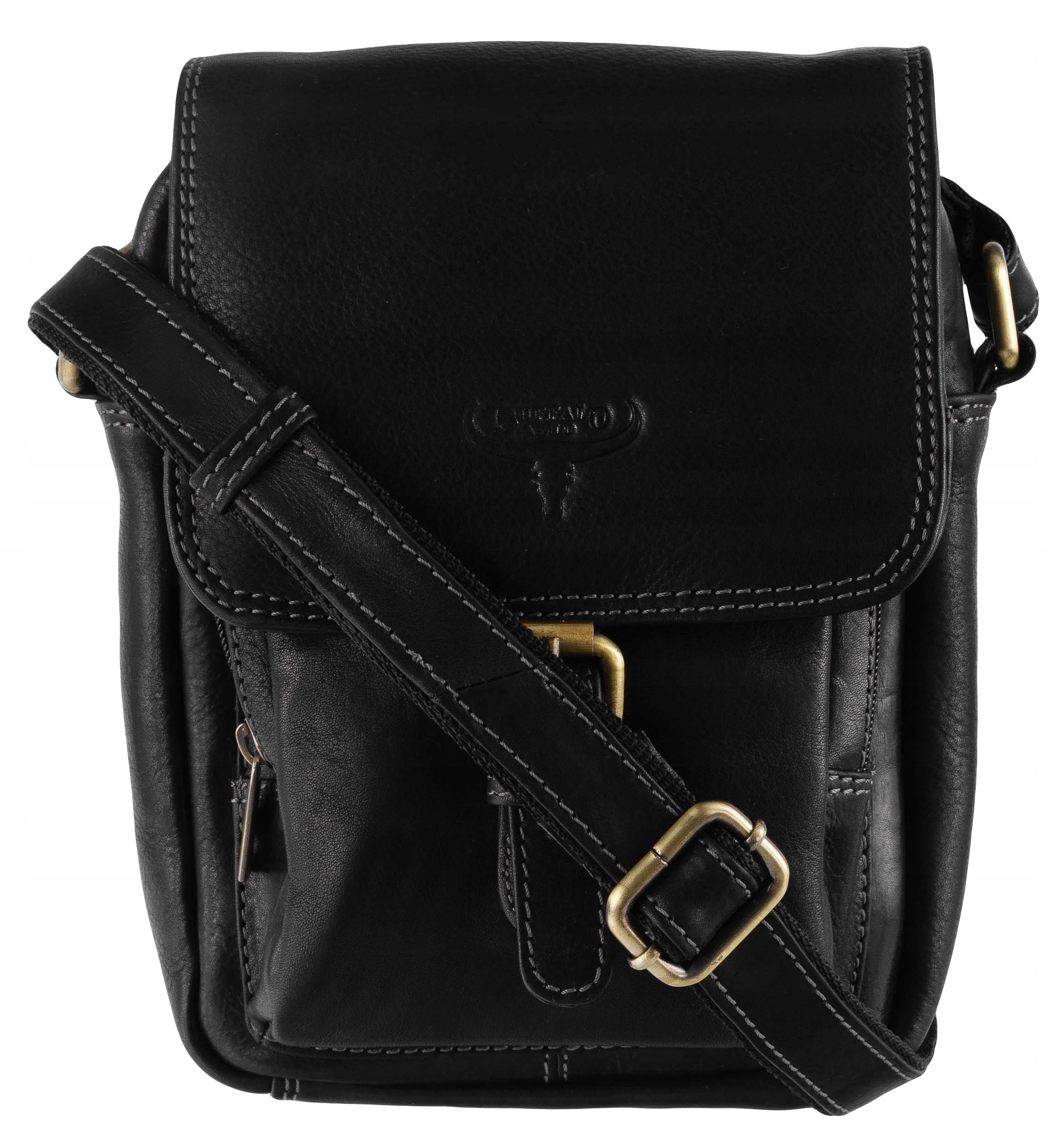 štýlová čierna kožená retro kabelka