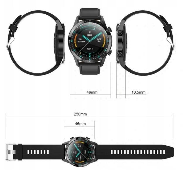 SMARTWATCH Zegarek EKG Krokomierz Puls Bluetooth Cechy dodatkowe Bluetooth