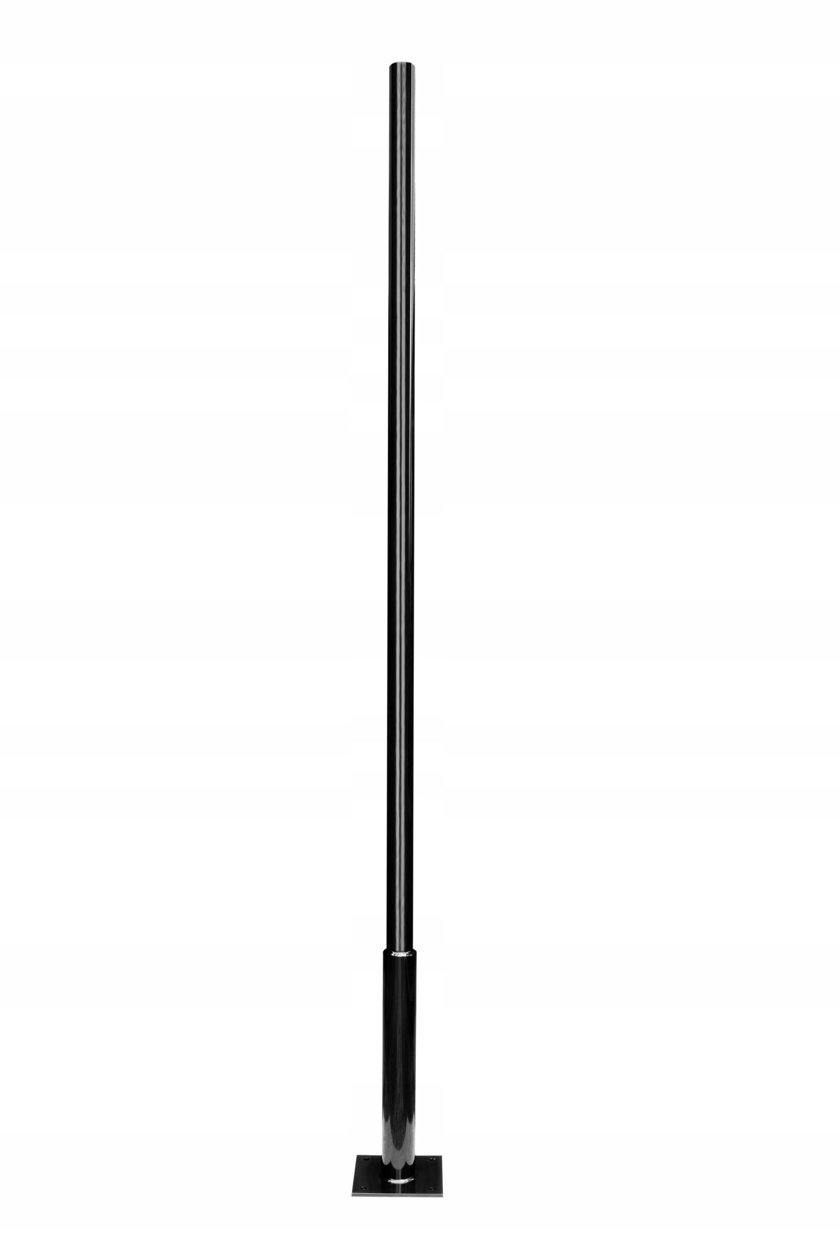 Солнечная мачта для видеонаблюдения 2,5 м, черная