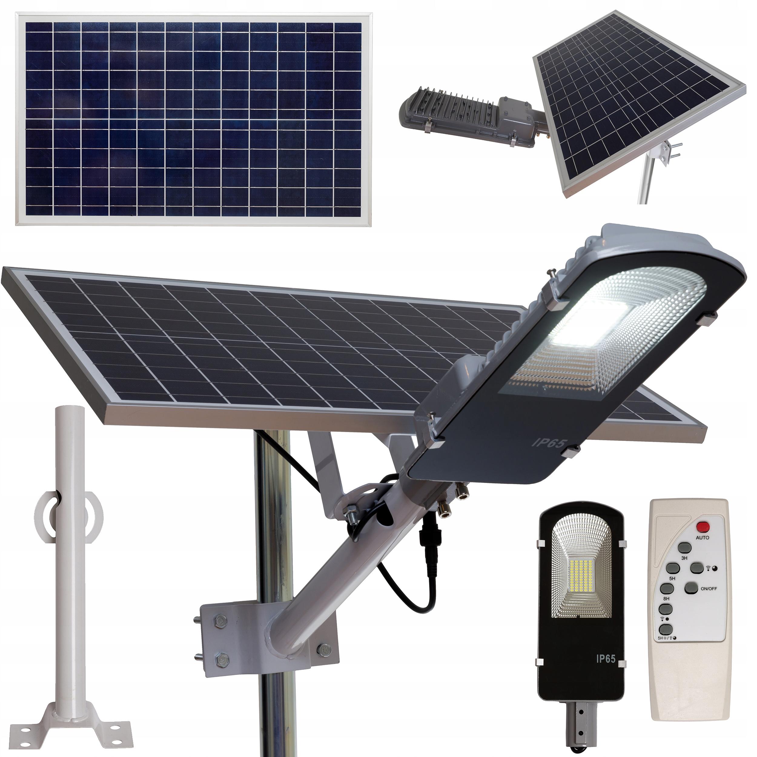 LAMPA SOLARNA ULICZNA LED 50W JD-650HL 5 TRYBÓW