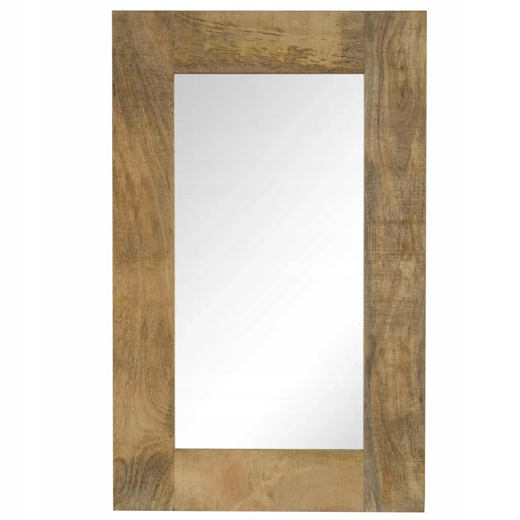 Kúpeľňové zrkadlo s dreveným rámom 50 x 80 cm