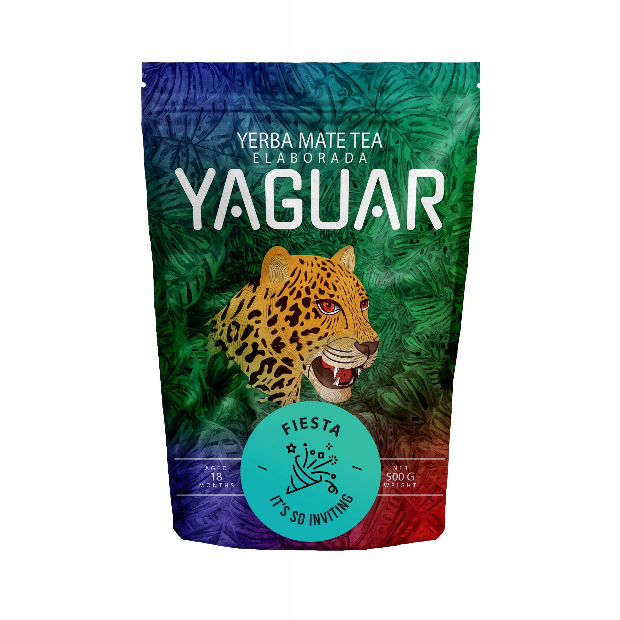 Yerba Mate Yaguar Fiesta energy 0.5кг 500г