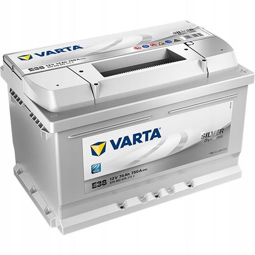 аккумулятор varta silver dynamic 12v 74ah 750a e38