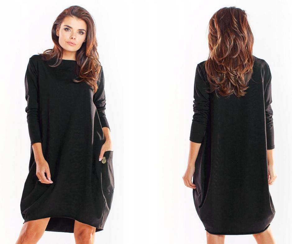 Luźna sukienka dresowa oversize tuba L/XL