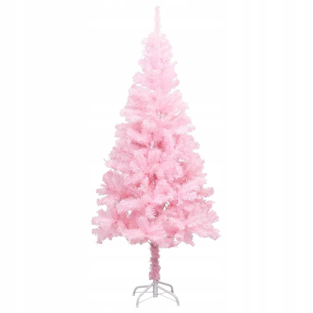 Umelý vianočný stromček so stojanom, ružový, 150 cm, PVC