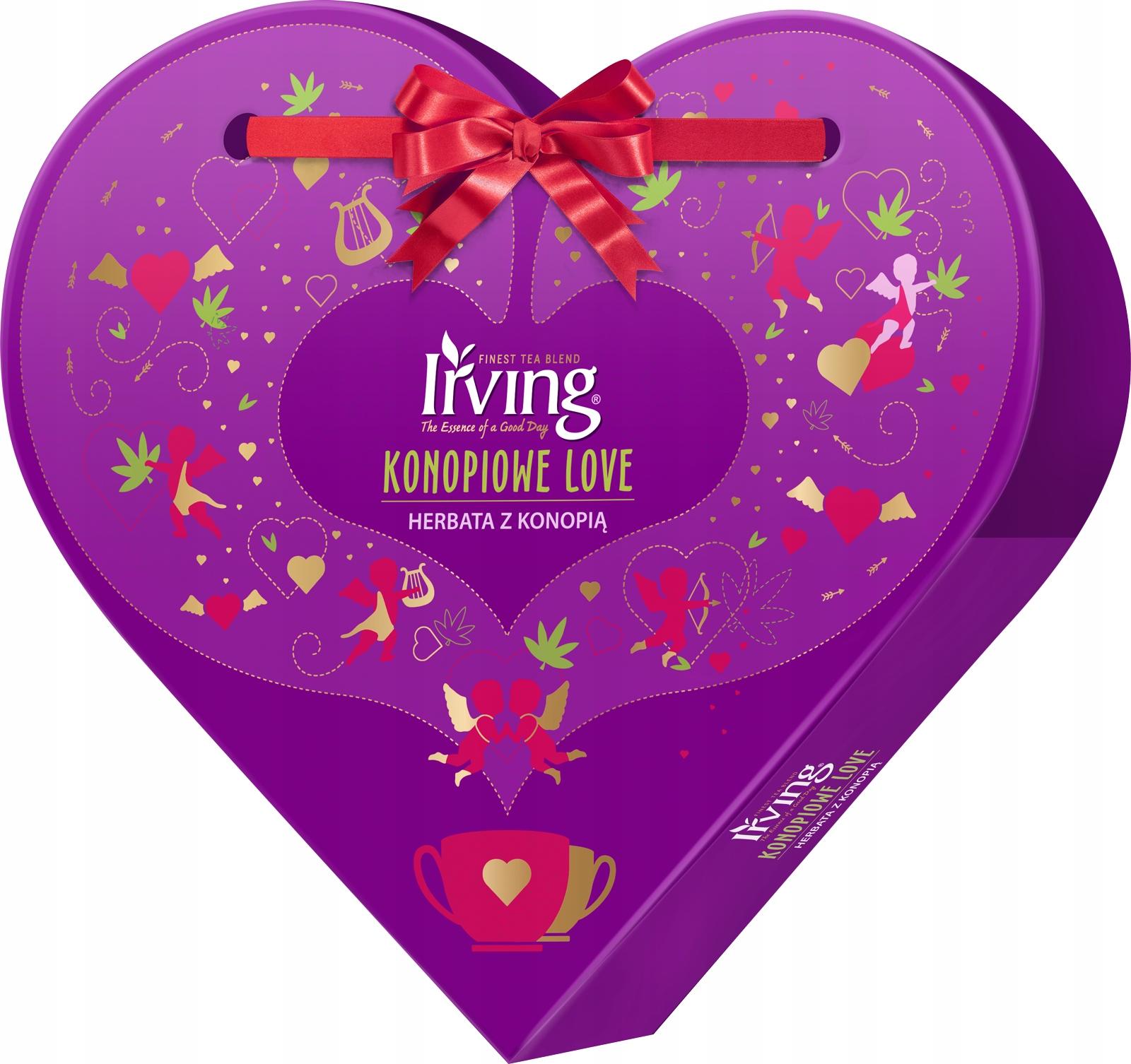 Чай с коноплей HEMP LOVE 24 конверта ИРВИНГ