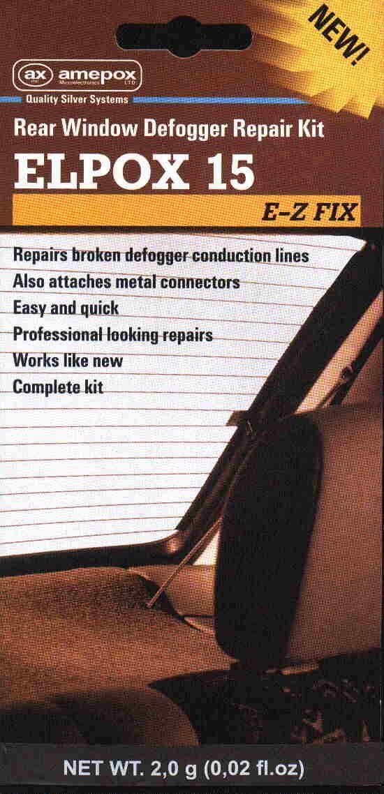 ELPOX клей ремонт обогрева заднего стекла в машине