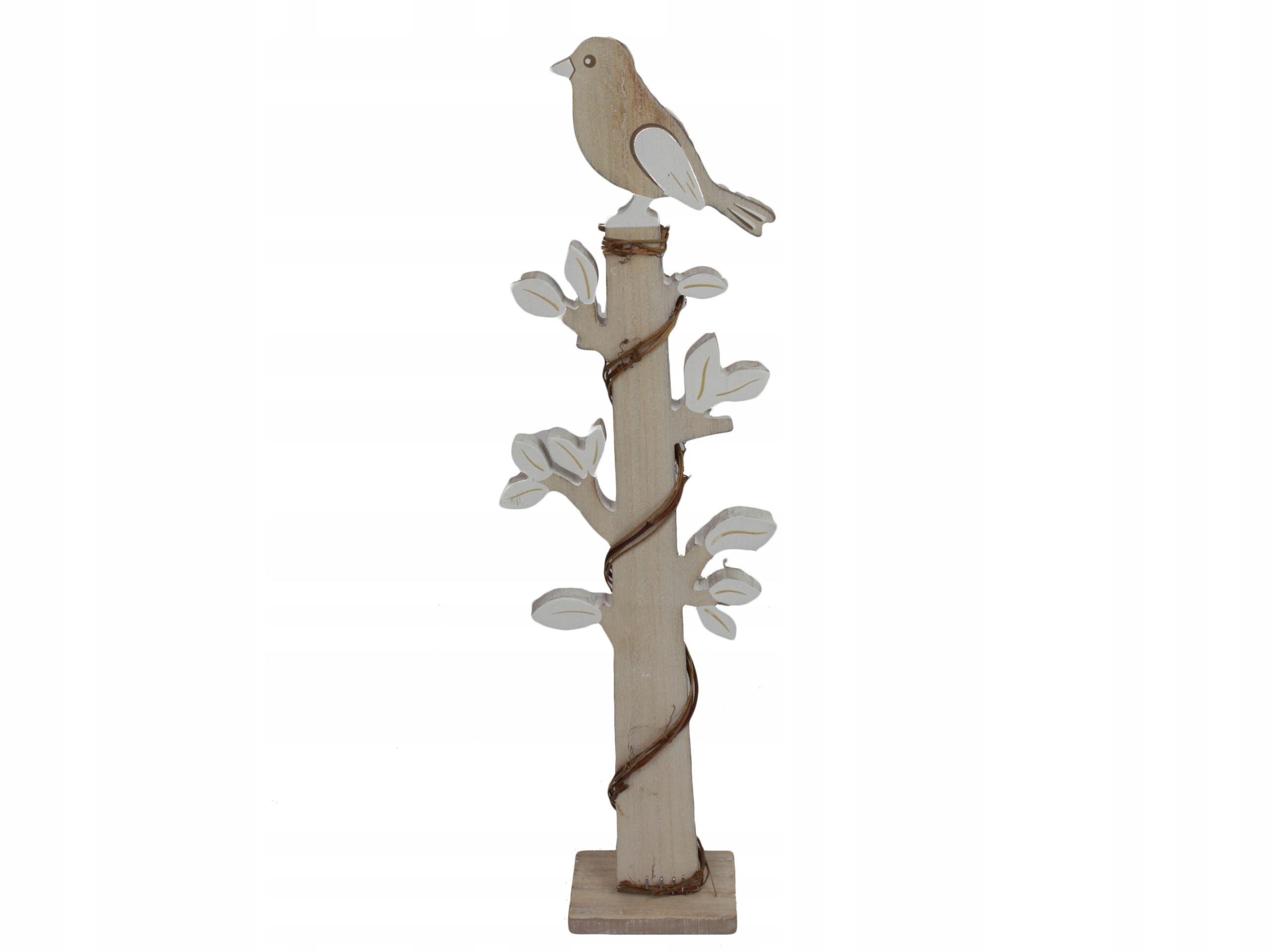 Bird dekorácie, drevená dekorácia pre jarnú 51 cm