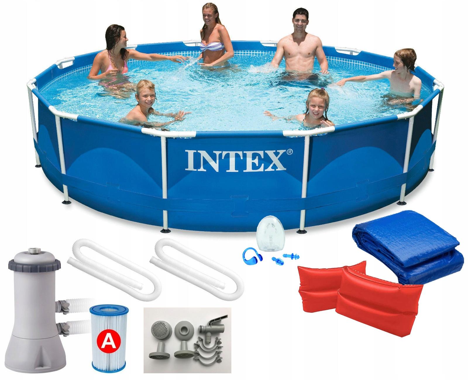 INTEX 28212 9w1 366x76cm BASEN STELAŻOWY POMPA