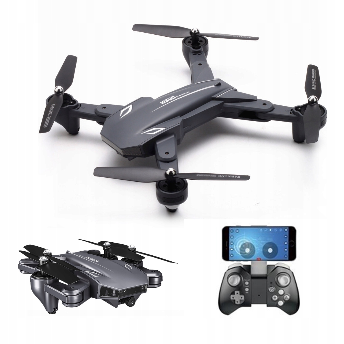 Item DRONE VISUO XS816 SHARK WITH A 4K UHD CAMERA AND A GREAT BATTERY