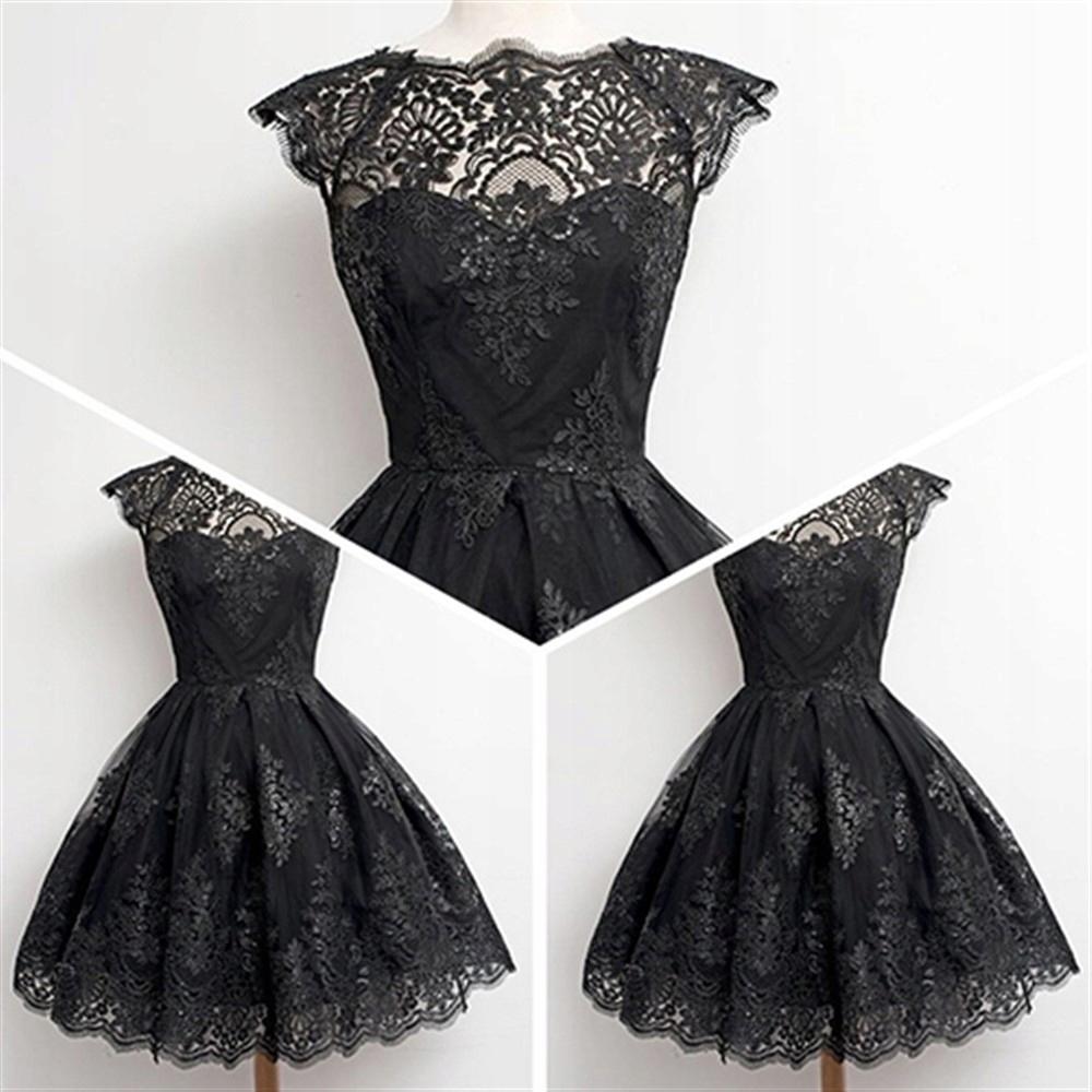 Čipky mini šaty gothic, vintage krásne M