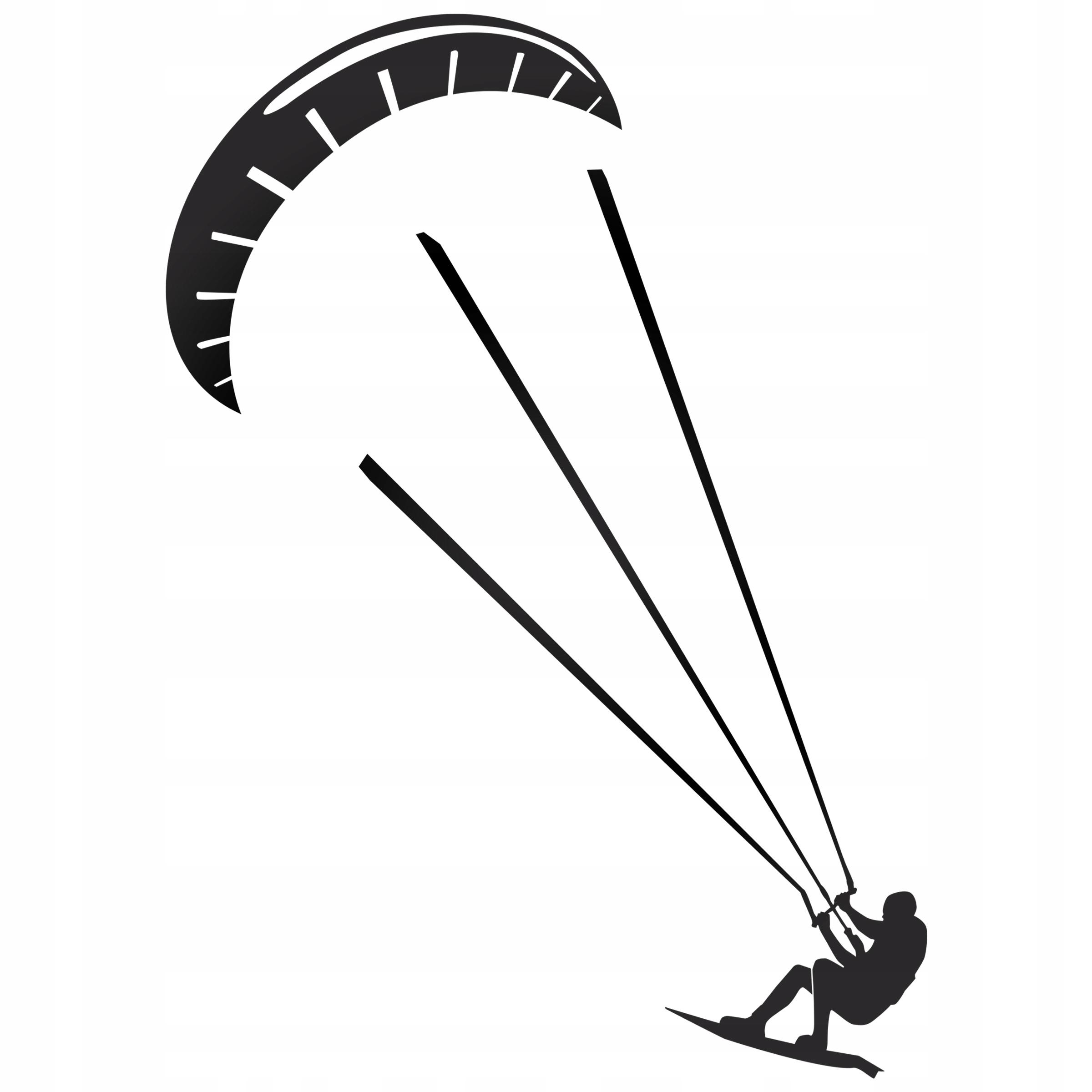 Kitesurfing surfer reflexné na karosérii