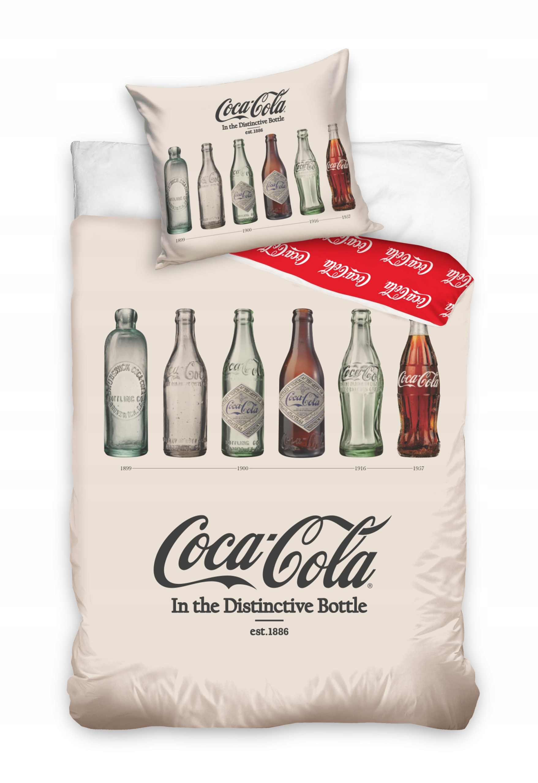Obliečky COCA-COLA Coca Cola RETRO 160x200 bavlna
