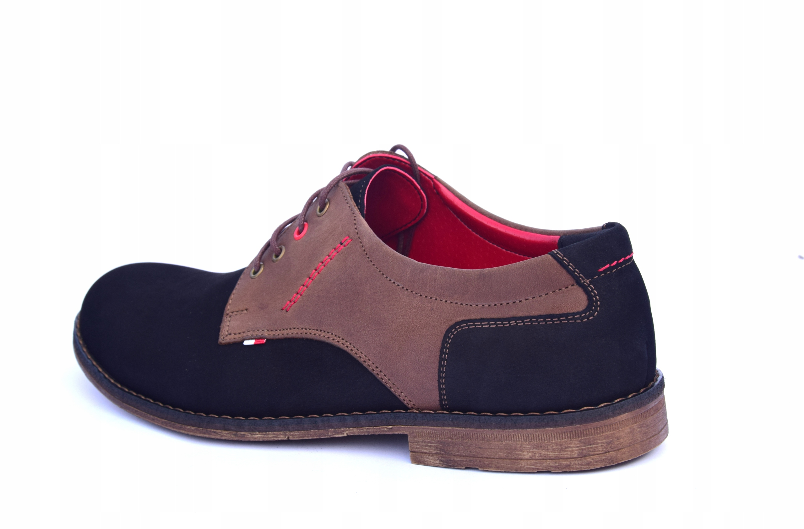 Buty skórzane męskie obuwie polskiej produkcji 258 Długość wkładki 27.9 cm