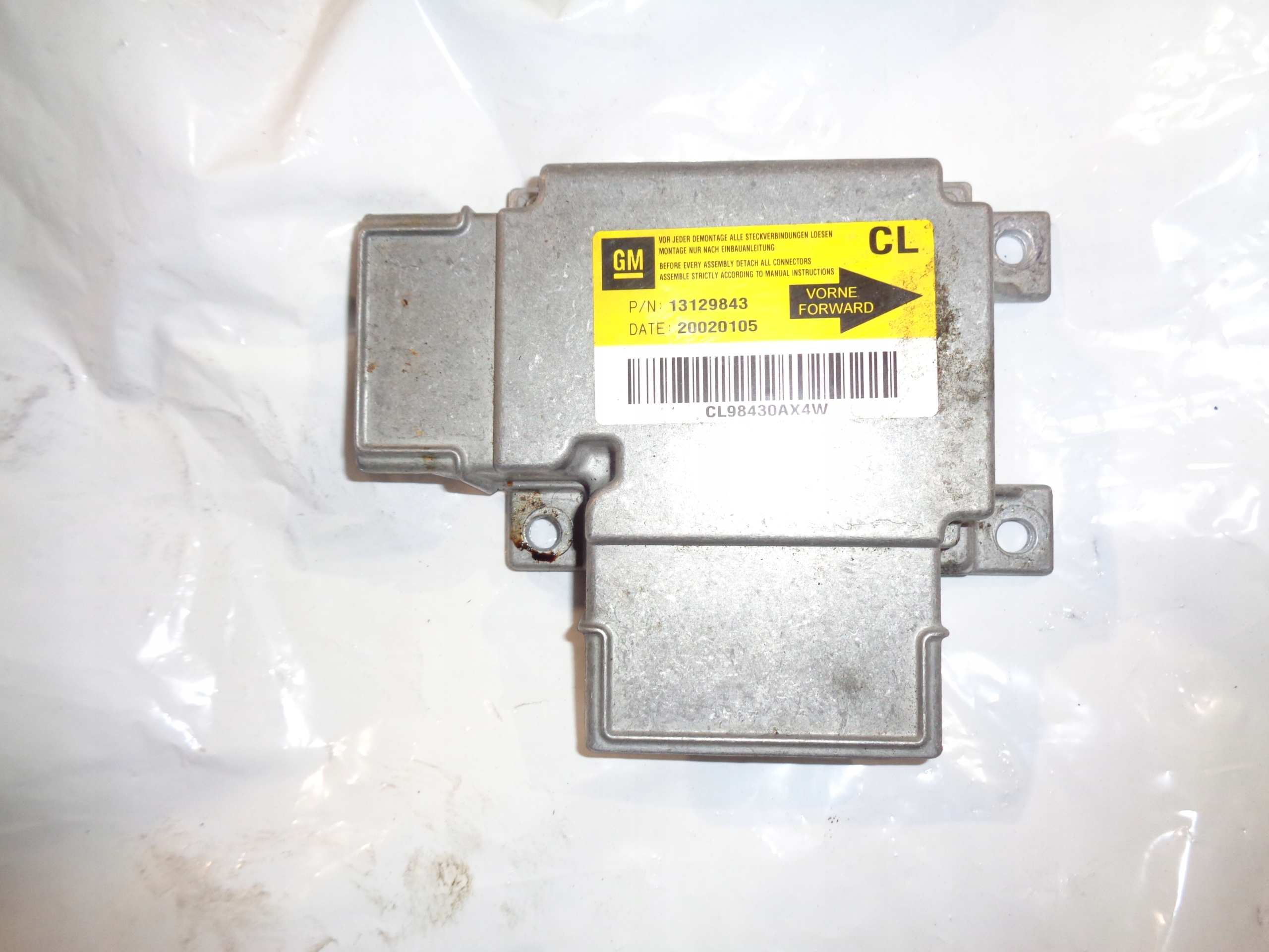 vectra c 18 16v сенсор подушек airbag 13129843