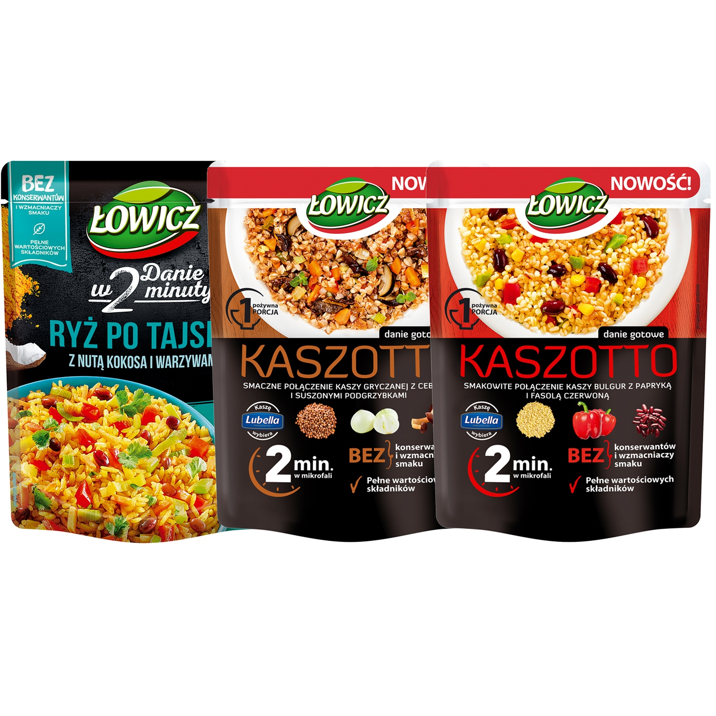 Łowicz Ryż po tajsku + 2x Kaszotto 3x250g
