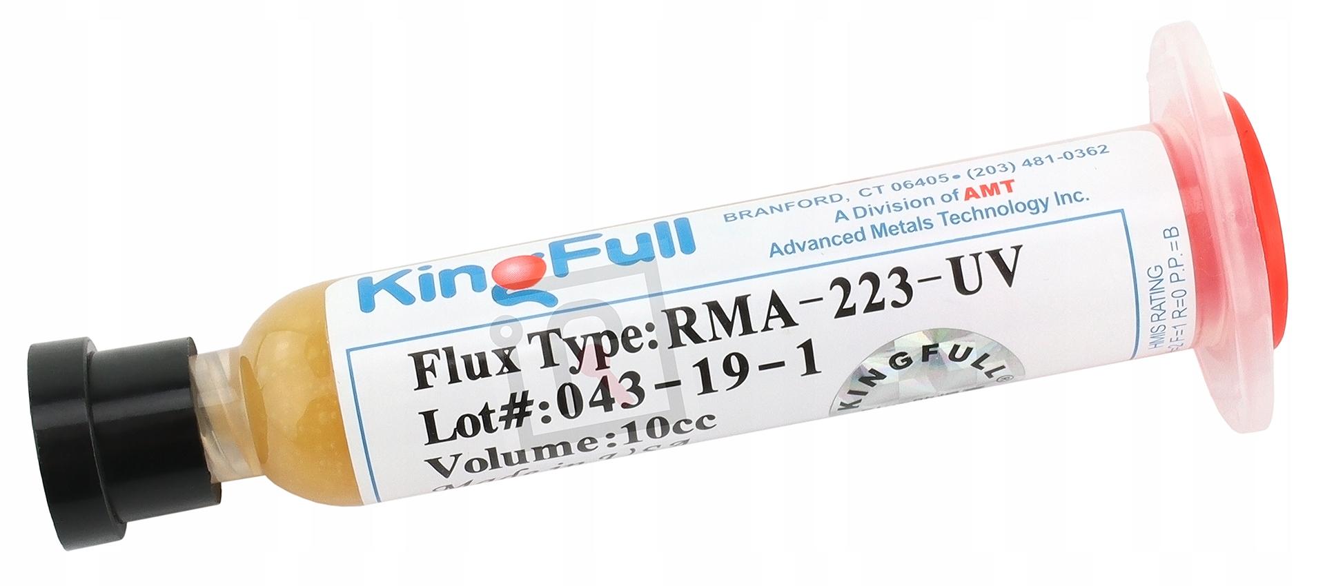 FLUX FLUX SOLDER PASTE KINGFULL RMA223UV 10g